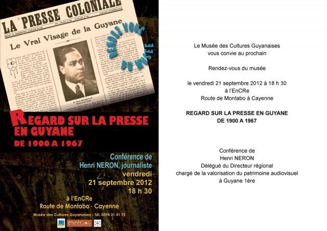 Conférence à l'EnCRe : regard sur la presse en Guyane de 1900 à 1967
