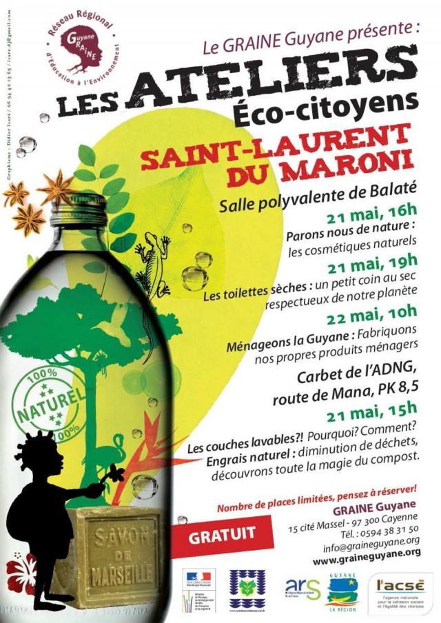 développement durable : ateliers éco-citoyens à St Laurent du Maroni les 21 et 22 mai