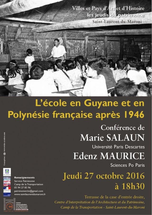 Conférence : L'école en Guyane et en Polynésie française après 1946