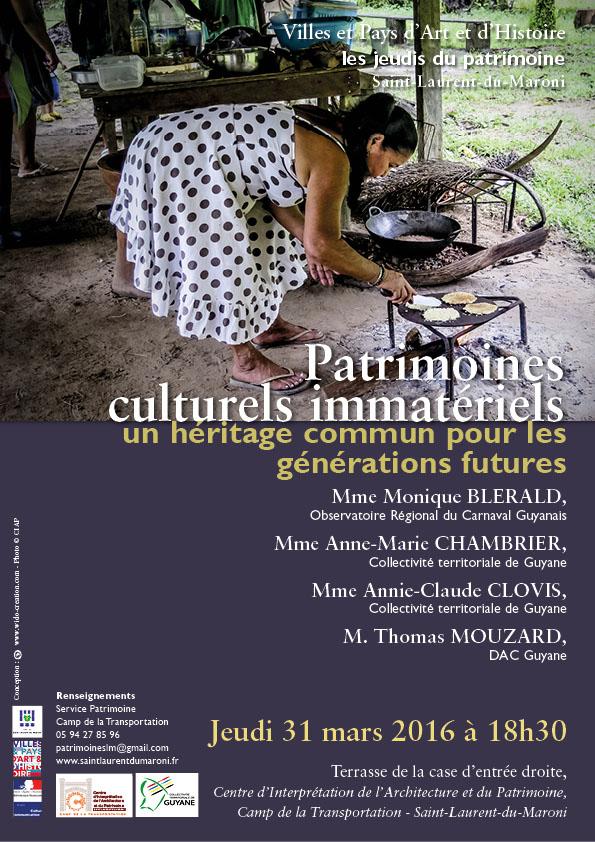 Conférence : Patrimoines culturels immatériels, un héritage commun pour les générations future