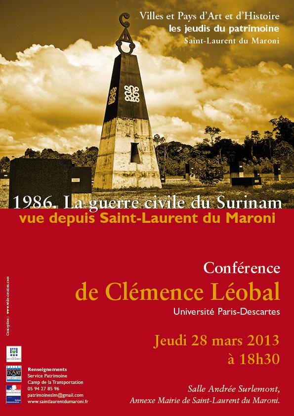 Conférence : La guerre civile du Surinam