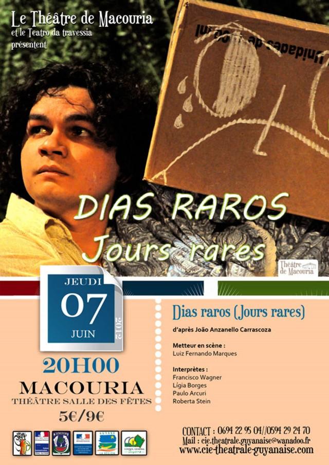 """Théâtre : """"Dias raros"""" à Macouria"""