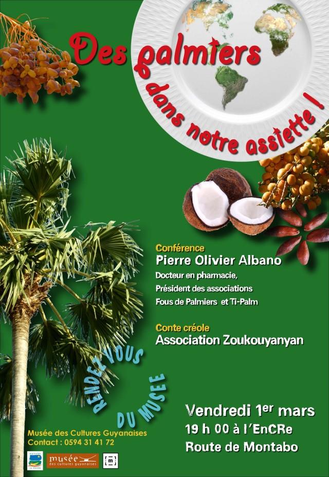 Conférence sur les palmiers : qui se mangent