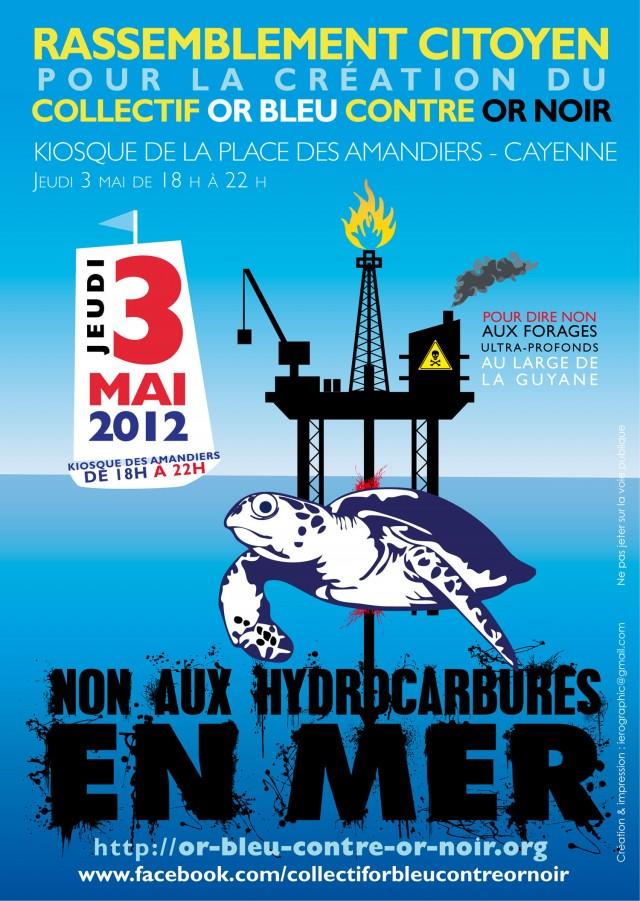 Rassemblement populaire : pour la création d'un collectif citoyen « Or Bleu Contre Or Noir » contre l'exploitation de pétrole off-shore