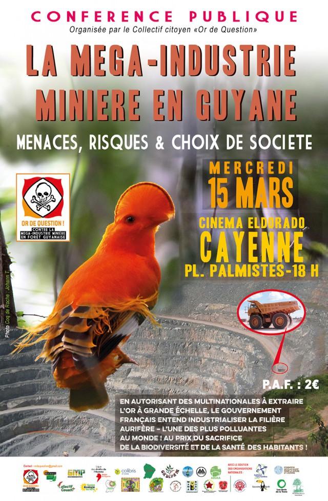 Conférence publique :Non à la Mega-industrie minière en Guyane