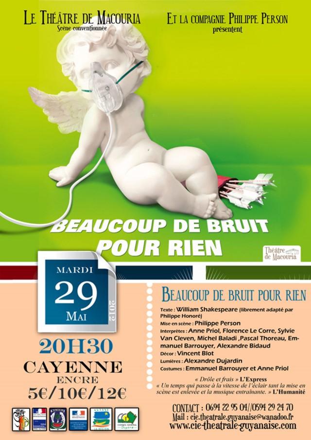 Théâtre : Beaucoup de bruit pour rien de William Shakespearele 29 Mai à Cayenne et le 30 à Macouria