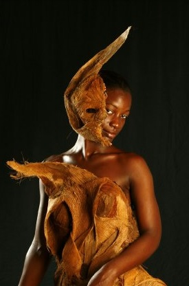 Atelier à Cayenne : Moulage de fibres de palmiers