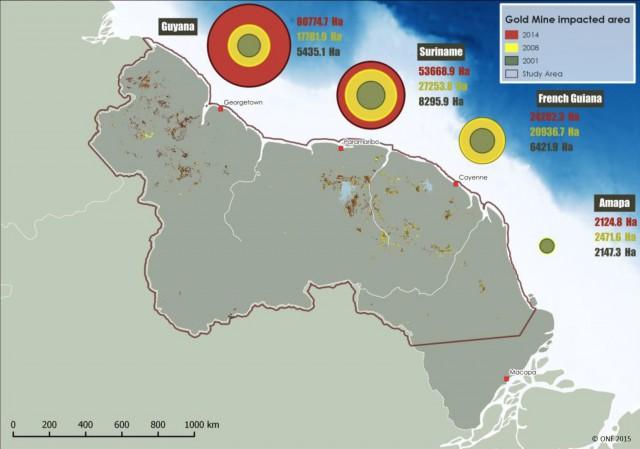 carte déforestation 2001-2008-2014