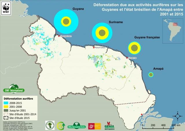 Une nouvelle étude et une cartographie : pour alerter sur les impacts environnementaux de l'orpaillage
