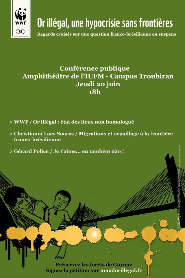 Conférence publique WWF : Or illégal, une hypocrisie sans frontière