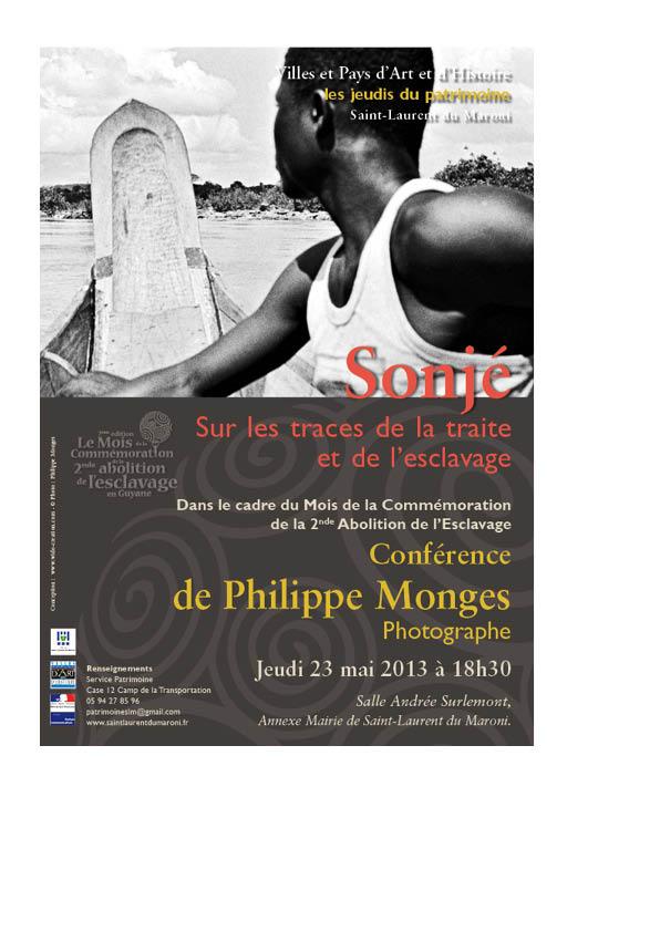 Conférence de Philippe Monges : Sur les traces de la traite et de l'esclavage.