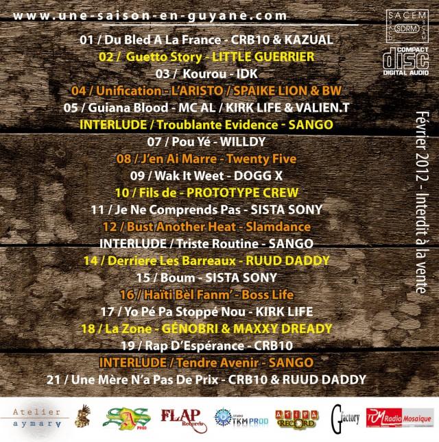 Compil' Hip Hop Guyanais en édition limitée : Quelques extraits en écoute
