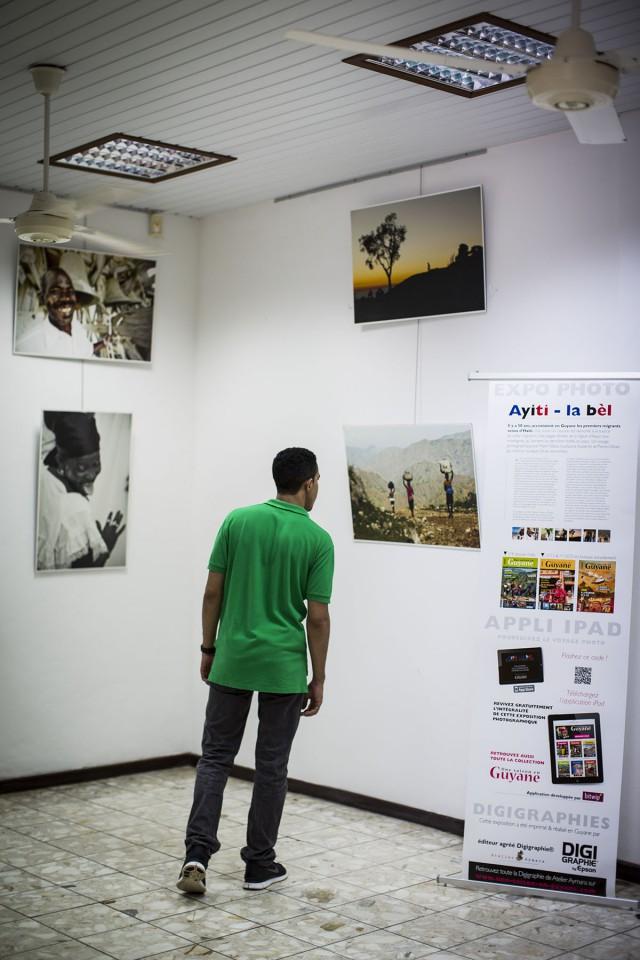 L'expo Ayiti La Bèl : dans le hall du Comité du tourisme de la Guyane