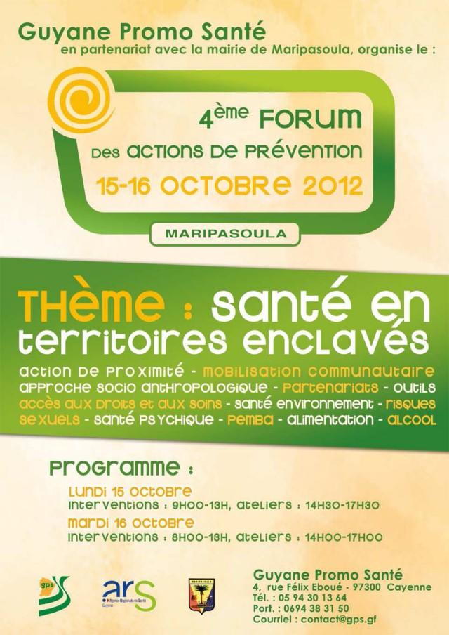 Santé : Forum des actions de préventionà Maripasoula les 15 et 16 octobre