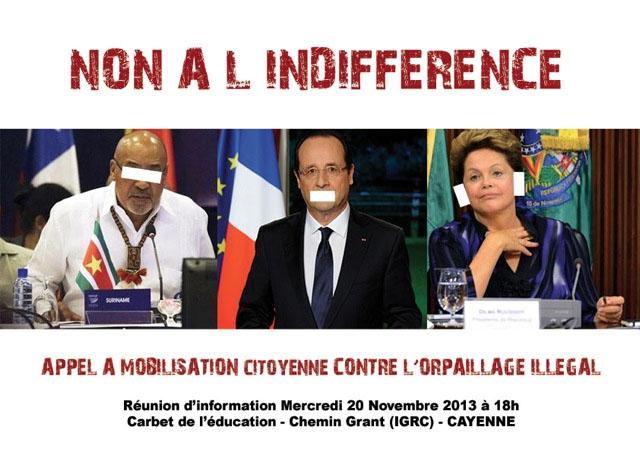Appel à la mobilisation citoyenne en Guyane : pour dire STOP l'orpaillage illégal