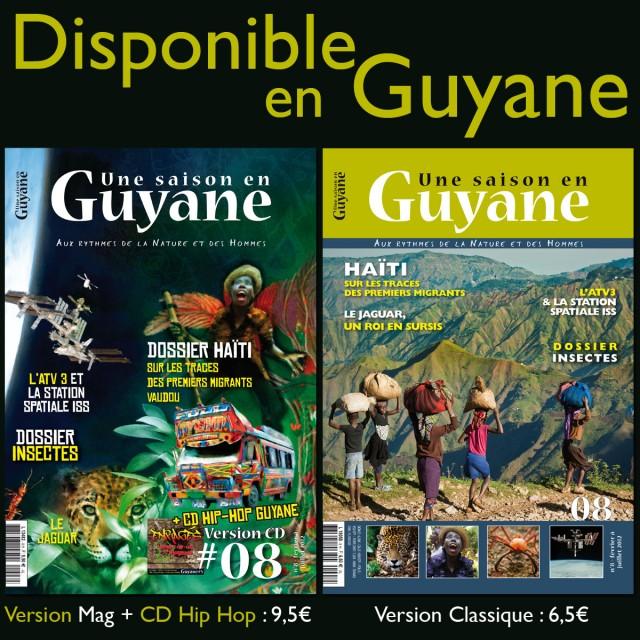 Le N°08 est disponible en Guyane : Localiser un point de vente dans le 973