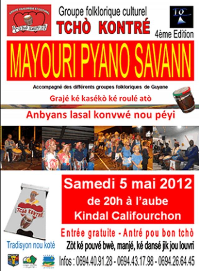 """Musique Live : La tradition créole à l'honneur avec """"Mayouri Pyano Savann"""" à Matoury"""