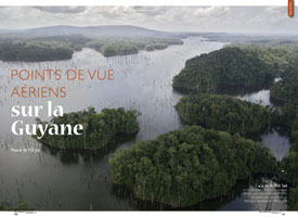 Aerial views of French Guiana