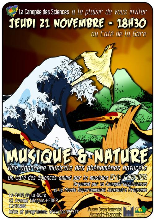 Café des Sciences : Musique et nature avec Eric Cordier