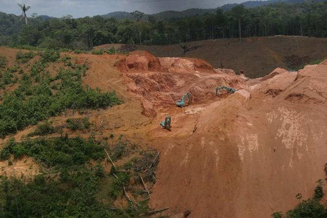 Recrudescence de l'activité aurifère sur le Plateau des Guyanes