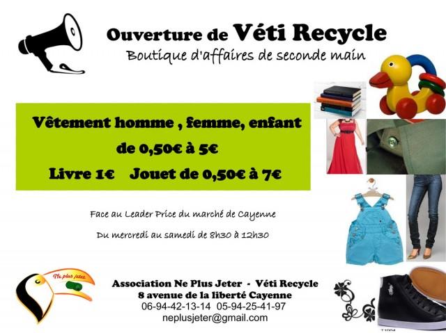 Des vêtements et objets à moindre coût : Véti Recycle ouvre au centre de Cayenne