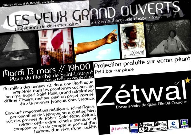 Cinéma : Zétwal (52') au marché de St Laurent