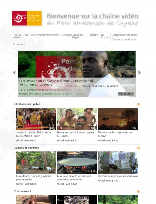 Web : Le Parc amazonien de Guyane lance sa chaîne vidéo